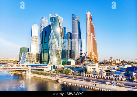Moscow City - view of skyscrapers - Stock Photo