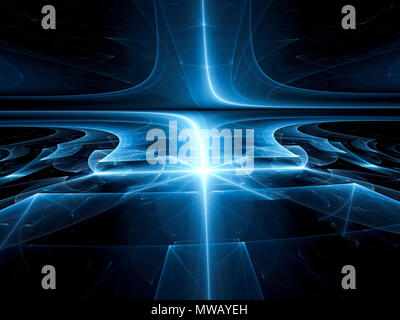 Perspective background - abstract digitally generated image - Stock Photo