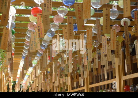 Japanese Wind Chimes in Kawagoe, Japan - Stock Photo