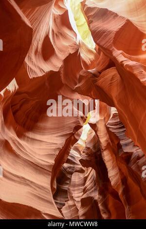 The natural wonders of Antelope Canyon is on Navajo Land near Page Arizona - Stock Photo