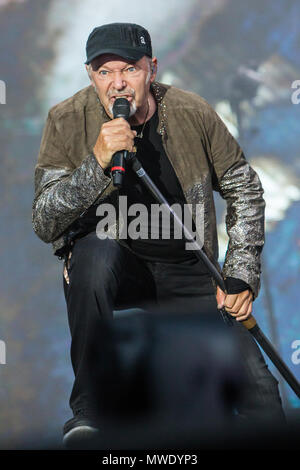 Turin Italy. 01st June 2018. The Italian rock singer-songwriter VASCO ROSSI performs live on stage at Stadio Olimpico 'Grande Torino' in the first date of 'Non Stop Live Tour 2018' Credit: Rodolfo Sassano/Alamy Live News - Stock Photo