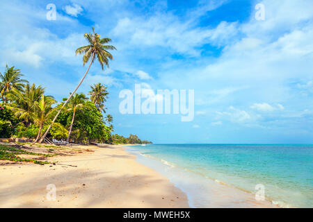 Sunny day at the beach of Bang Por on Koh Samui in Thailand. - Stock Photo
