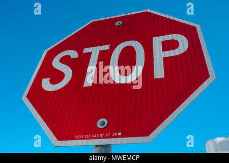Stop sign Traffic sign - Stock Photo