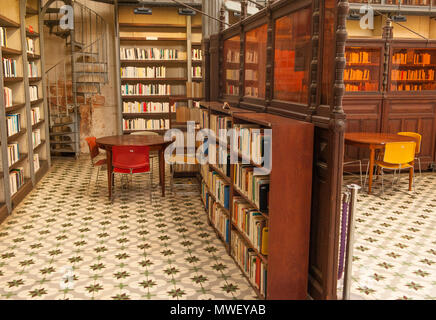 Reading room of the Schoelcher library at Fort-de-France, Martinique - Stock Photo