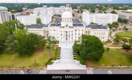 Alabama State Capitol Building, Montgomery, Alabama, USA - Stock Photo