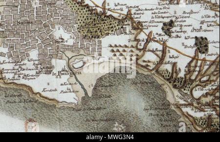 carte de cassini date Français : La Baule Escoublac, carte de Cassini . 1776. César