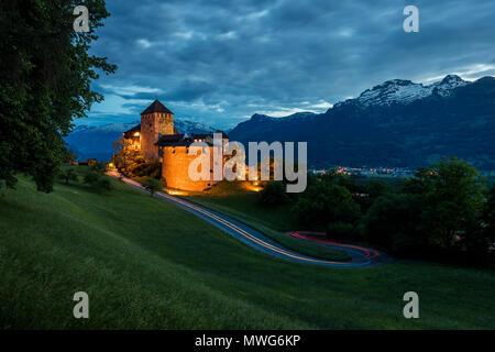 Vaduz Castle in Lichtenstein - Stock Photo