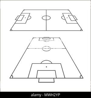 Sketch of soccer fields set football field design element soccer sketch of soccer fields set football field design element soccer field top view template maxwellsz