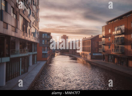Sunset in Gas Street Basin - Stock Photo