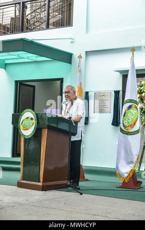 Quezon City, Philippines. 31st May, 2018. Congressman Feliciano 'Sonny' Belmonte, Jr., Representative, 4th District Quezon City who was the guest of honor and speaker during the inauguration. Credit: Robert Oswald Alfiler/Pacific Press/Alamy Live News - Stock Photo
