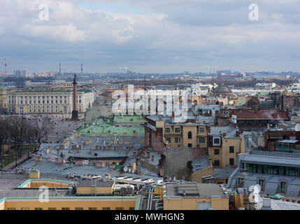 St. Petersburg, Russia - 24 April 2016: view of the historic centre of St. Petersburg, Russia, in the spring. A popular tourist attraction - Stock Photo