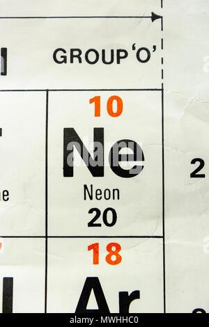 Neon Chemical Element Stock Photo 56150877 Alamy
