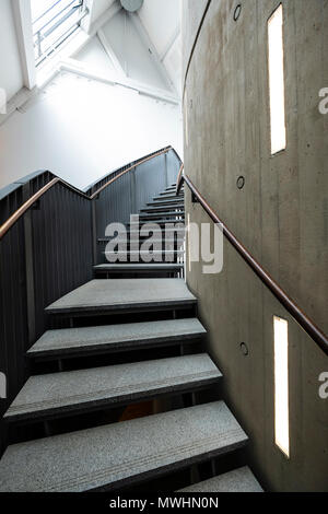 Interior stairway of The McManus art gallery and museum in Dundee, Tayside, Scotland, UK - Stock Photo