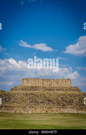 Monte Alban, a pre-Columbian archaeological site, Building of the Dancers, Oaxaca, Mexico - Stock Photo