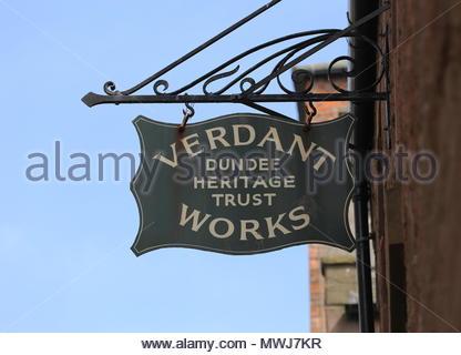 Exterior of Verdant Works Jute Mill Museum Dundee Scotland  June 2018 - Stock Photo