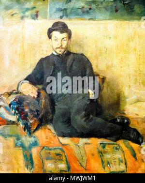 Gustave Lucien Dennery (1863-1953) by Henri de Toulouse Lautrec (1864-1901) - Stock Photo