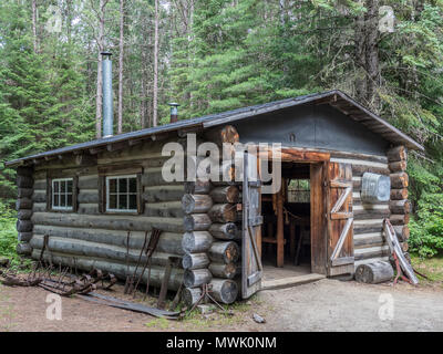 Blacksmith shop, Sawlog Camp, Algonquin Logging Museum, Algonquin Provincial Park, Ontario, Canada. - Stock Photo