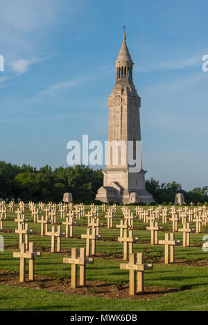 Notre Dame de Lorette French national memorial and war cemetery - Stock Photo