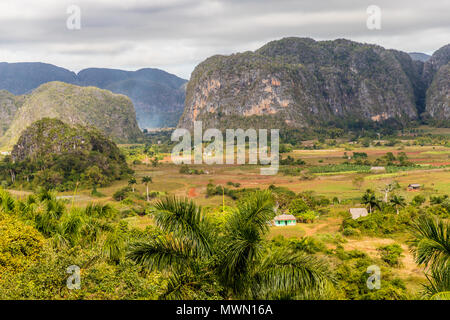 View of Vinales landscape in Cuba. - Stock Photo