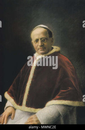 . English: portrait of pope pius XI Español: pintura de pio XI . 1922. Vatican 486 Piuspp.xi - Stock Photo