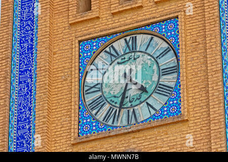 Clock tower in Yazd - Stock Photo