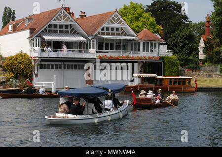 Henley Royal Regatta, Oxfordshire, UK - Stock Photo