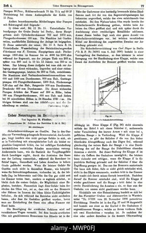 509 R. Fiedler, Ueber Neuerungen im Heizungswesen. In, C. Engler, A. Hollenberg u. H. Kast (Hrsgg.), Dinglers Polytechnisches Journal, 74. Jg., 288. Bd, Heft 4, Stuttgart 28. April 1893, J.G. Gotta'schen Buchhandlg, S. 77 - Stock Photo