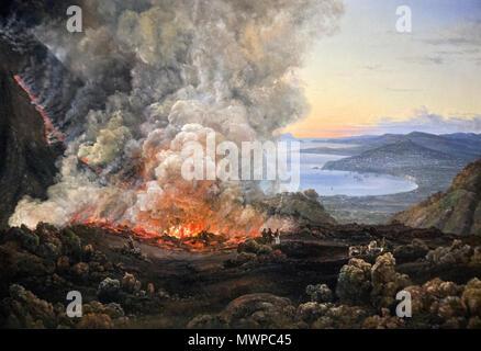 Johan Christian Dahl - Vesuvius in Eruption (1821) - Stock Photo