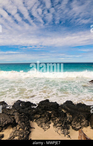 One of the most beautiful and highly rated beaches in the world - Wailea Beach, Maui, Hawaii, USA - Stock Photo