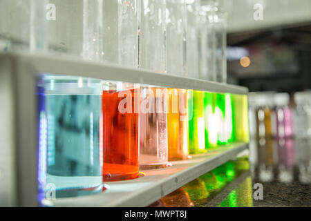 chemical beaker color liquid - Stock Photo
