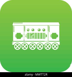 Compartment carriage icon green vector - Stock Photo