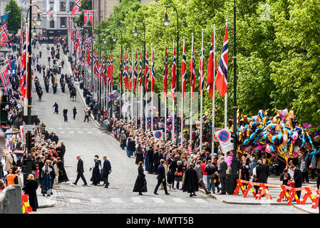 Norway - Oslo on Norwegian Constitution Day - Stock Photo