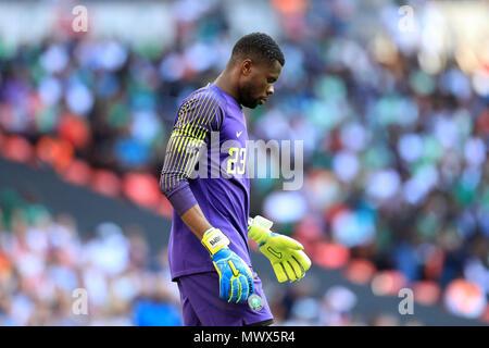 Wembley Stadium, London, UK. 2nd June, 2018. International football friendly, England versus Nigeria; Francis Uzoho of Nigeria Credit: Action Plus Sports/Alamy Live News - Stock Photo