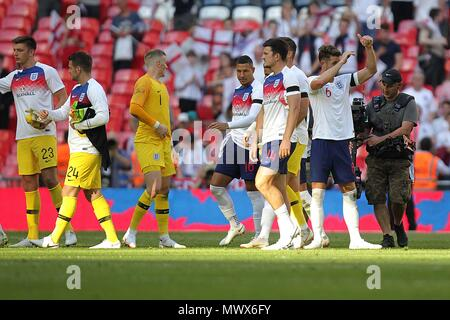 London, UK. 2nd June 2018. England after the International Friendly match between England and Nigeria at Wembley Stadium on June 2nd 2018 in London, England. (Photo by Matt Bradshaw/phcimages.com) Credit: PHC Images/Alamy Live News - Stock Photo