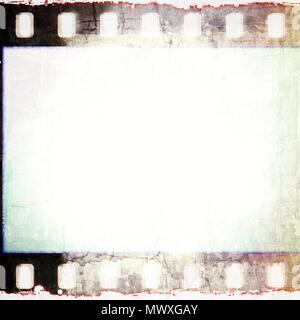 Vintage squared film strip frame in sepia tones. - Stock Photo