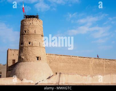 Dubai Museum, Al Fahidi Fort, Dubai, United Arab Emirates, Middle East - Stock Photo