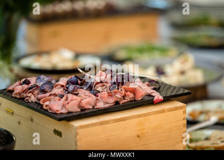 Meat snacks on the buffet table - Stock Photo