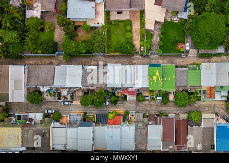 drone shot over Bangkok, Thailand - Stock Photo
