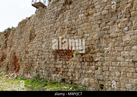 Bosnian War damaged section of Fort Imperial, Mount Srd, Dubrovnik, Croatia. - Stock Photo
