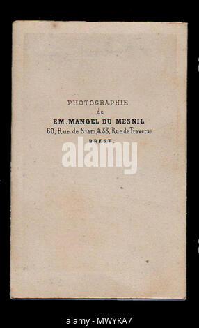 Espanol Dorso De Una Carte Visite Marcos Sastre Montevideo 1808