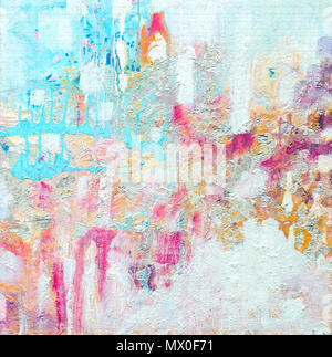Abstract acrylic painting. Contemporary art. Texture for various background. High resolution photo. - Stock Photo