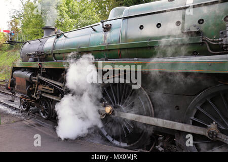 The Age of Steam, Vintage Steam Locomotives on an English Railway - Stock Photo