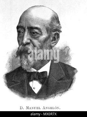 . Català: Manuel Angelon i Broquetas (Lleida, 1831 - Barcelona, 7 de maig, 1889) va ser un escriptor, dramaturg i periodista català. 1899. Unknown 391 Manuel Angelon - Stock Photo