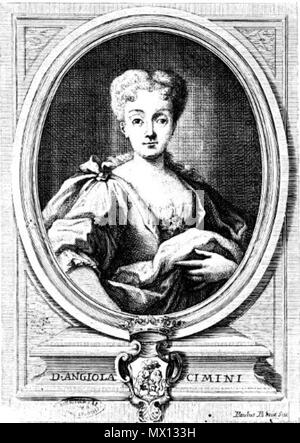 . English: Portrait of Angiola Cimini, Marchesan della Petrella. Coat of arms of Cimini family under a Marquis crown . 24 May 2015, 19:08:03. Felice Mosca 46 Angiola Cimini - Stock Photo