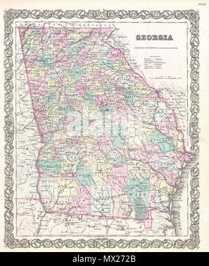 Florida Rivers Map.Alabama English A Beautiful 1855 First Edition Example Of Colton S