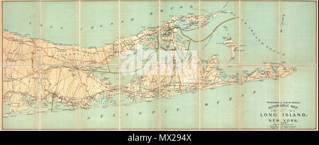 Automobile Map of Long Island, New York. East. English: An ...