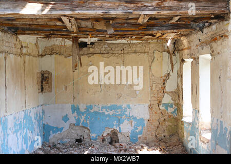 abandoned room in ruins - Stock Photo