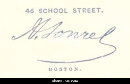 Verso Of Carte De Visite Photographed By A Sonrel Boston
