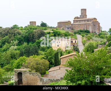 Tuscania (Italy) - A gorgeous etruscan and medieval town in province of Viterbo, Tuscia, Lazio region. It's a tourist attraction for the many churches - Stock Photo