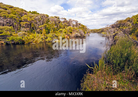 The Freshwater River on Stewart Island in New Zealand - Stock Photo